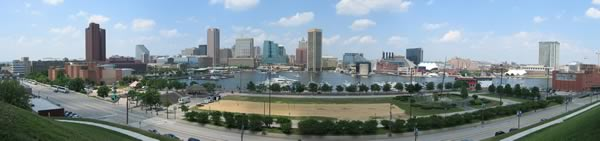 Downtown Baltimore MD Skyline